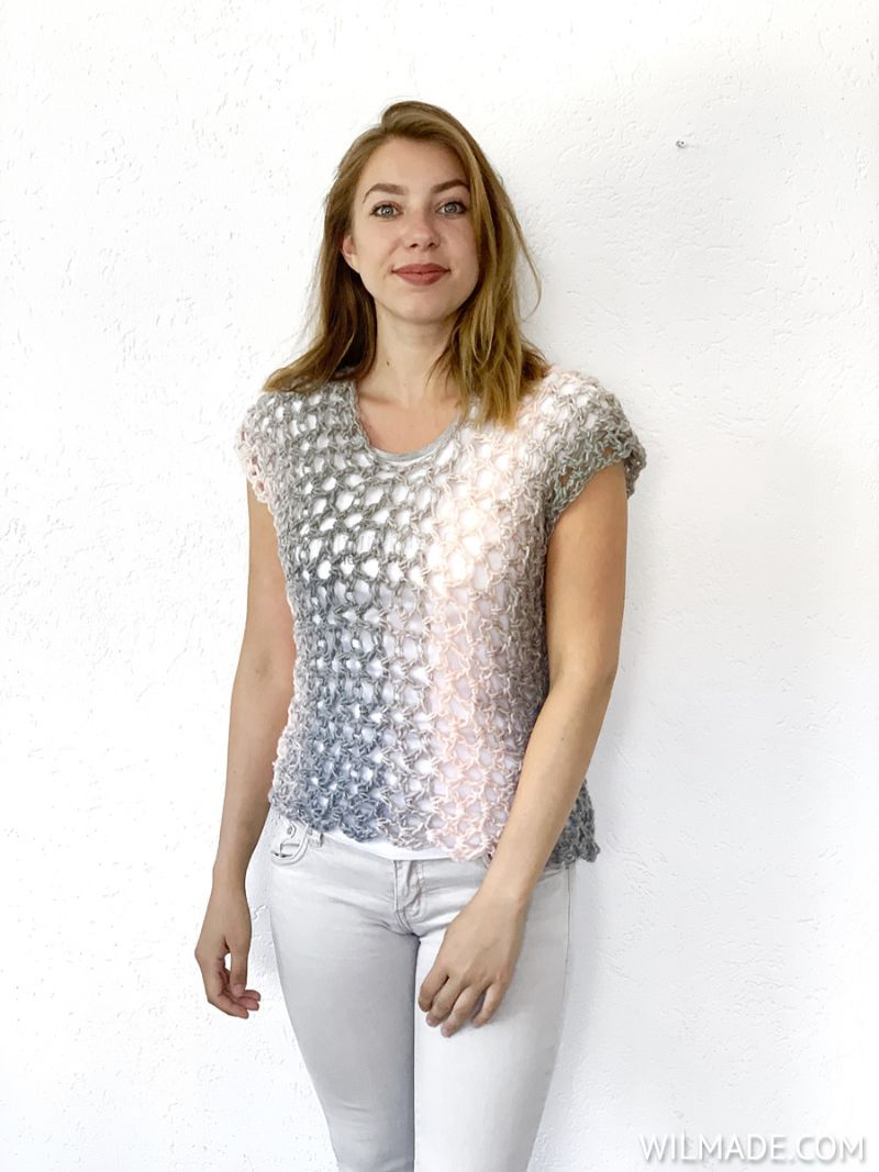 Crochet Poncho Top Free Pattern