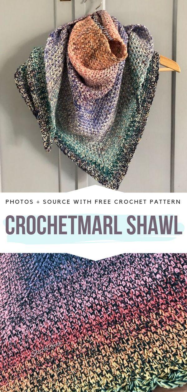 CrochetMarl Shawl Free Pattern