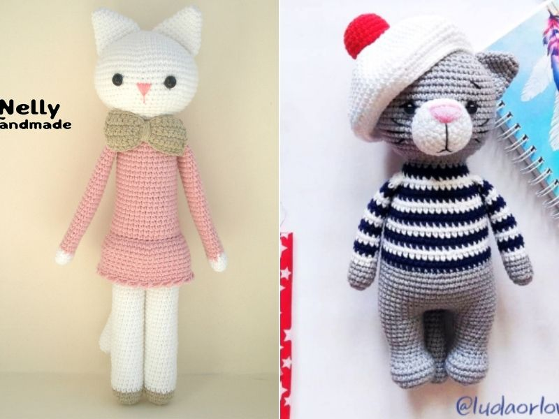 Cute Amigurumi Cats Free Crochet Patterns