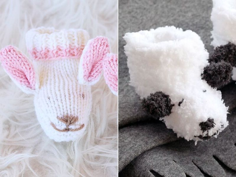 Cute Animal Baby Slippers Free Knitting Patterns