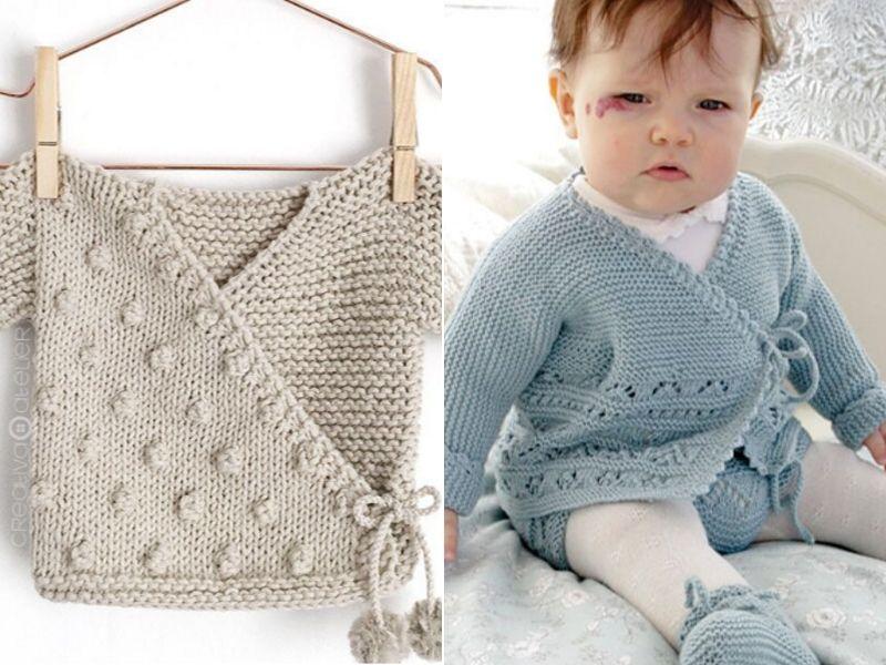 Cute Baby Kimonos Free Knitting Patterns