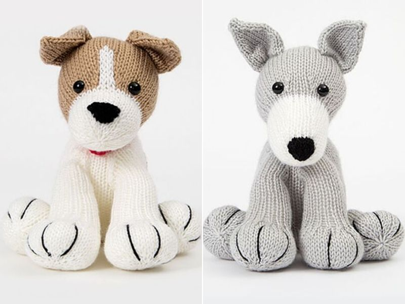Cute Knitted Dogs Free Patterns