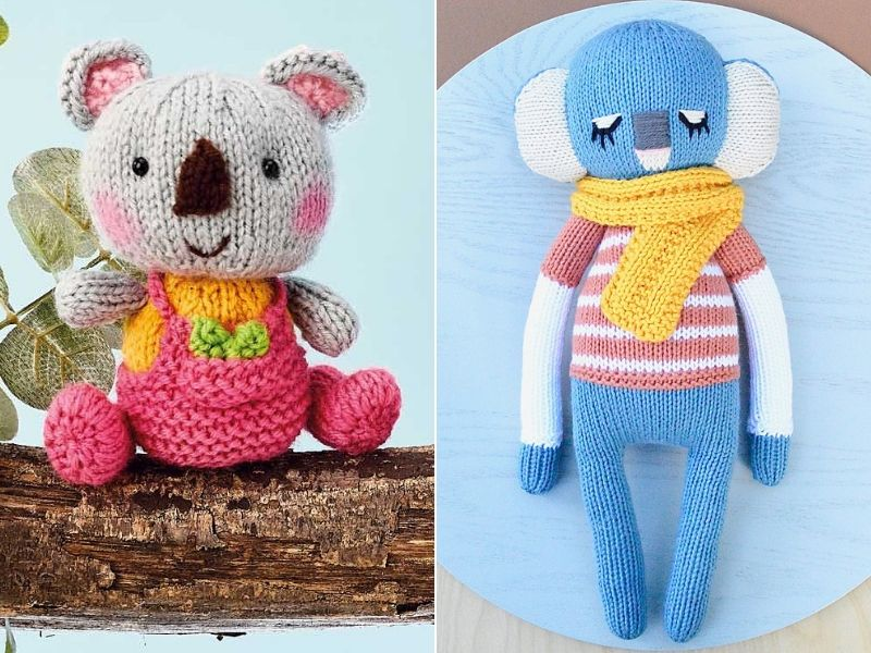 Cute Knitted Koalas Free Patterns