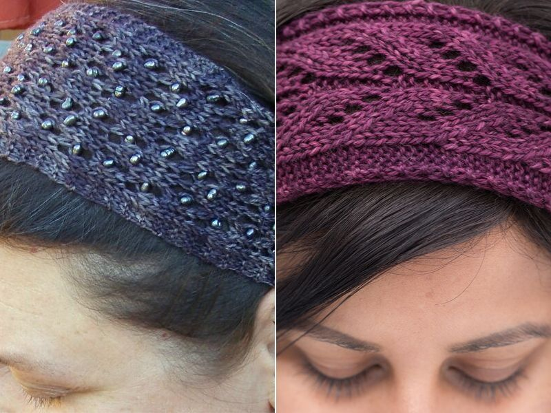 Delicate Knitted Headbands Free Patterns