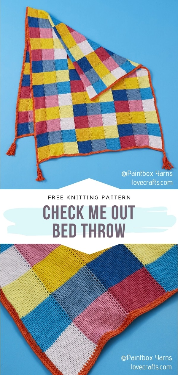 Colorful Bed Throw