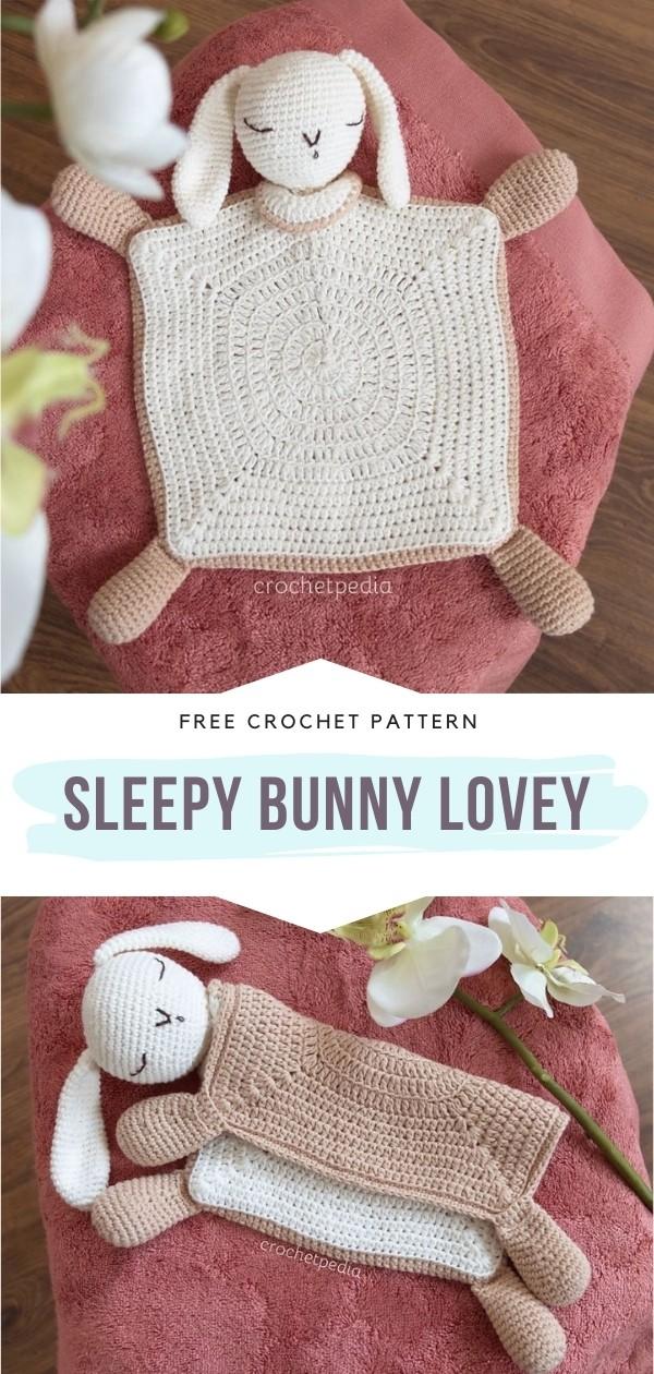 Sleepy Bunny Crochet Lovey