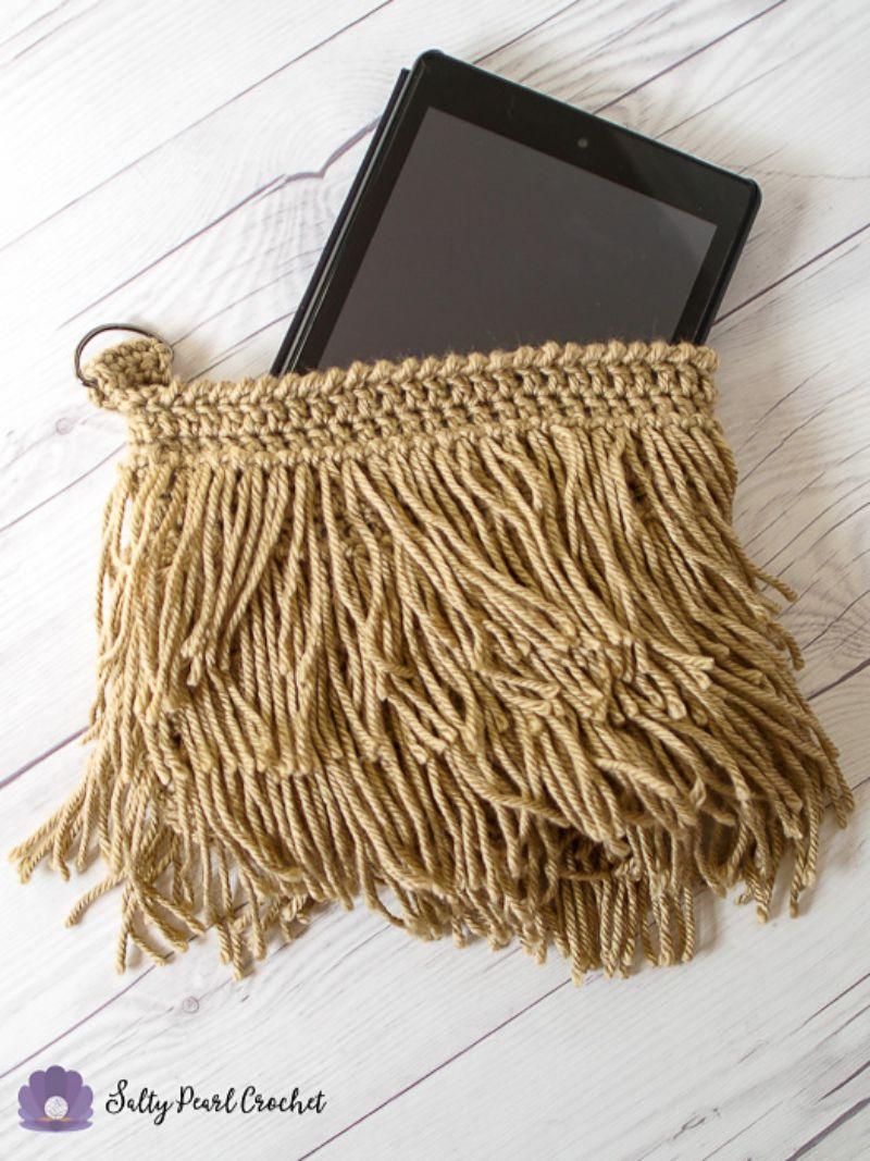 Fringe Clutch Purse Free Crochet Pattern