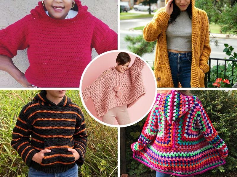 Great Adult Crochet Hoodies