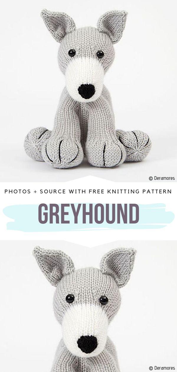 Greyhound Free Knitting Pattern
