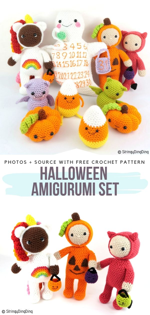 Halloween Amigurumi Set Free Crochet Pattern