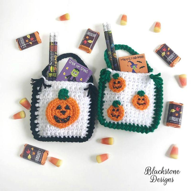 Halloween Pumpkin Treat Bags