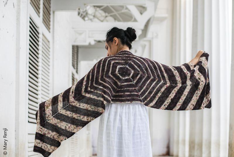 Hex It Shawl Crochet Pattern