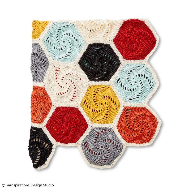 Hexagons Blanket Free Crochet Pattern