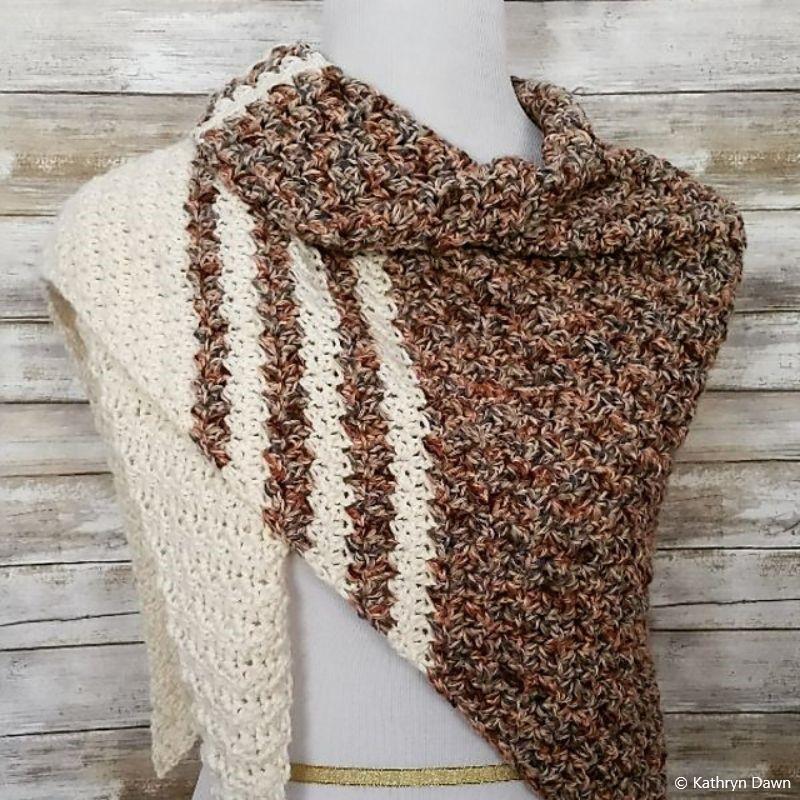 Laurel Creek Shawl Free Crochet Pattern
