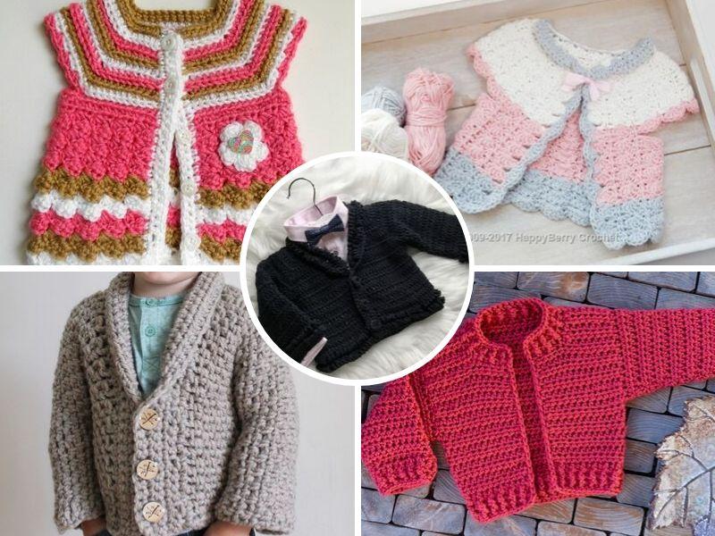 Lovely Crochet Baby Cardigans