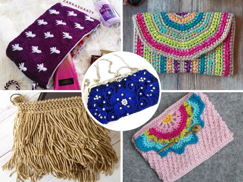 Lovely Crochet Clutches