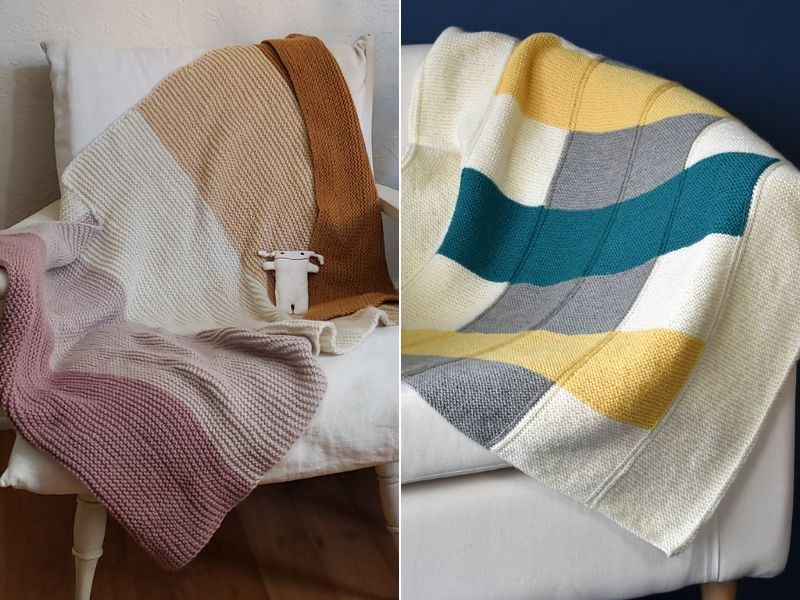 Modern Knitted Baby Blankets Free Patterns
