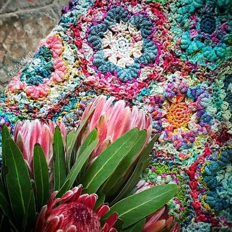 Mums Bullion Bloom Blanket Crochet Pattern