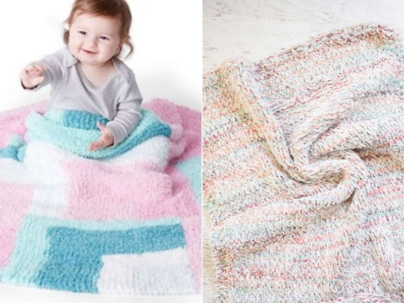 Pastel Knitted Baby Blankets Free Patterns