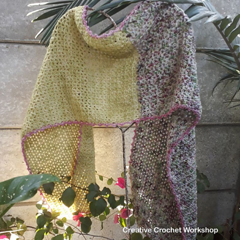 Sunshine Fields Wrap Free Crochet Pattern