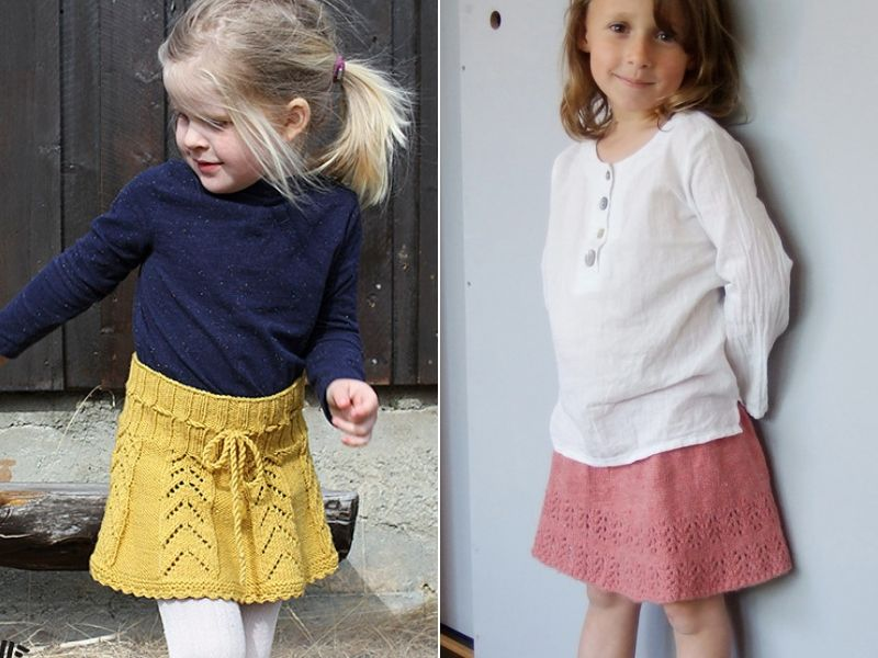 Sweet Knitted Girls Skirts Free Patterns