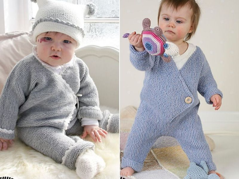 Sweet Knitted Onesies Free Patterns