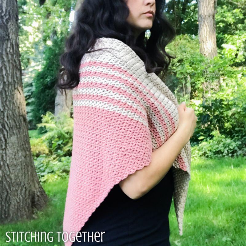 Tela Triangle Shawl Free Crochet Pattern