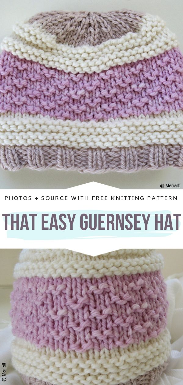 That Easy Guernsey Hat Free Knitting Pattern