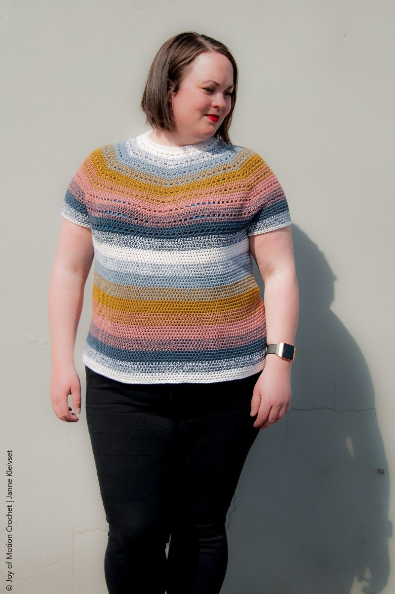 Top Down Summer Tee Free Crochet Pattern