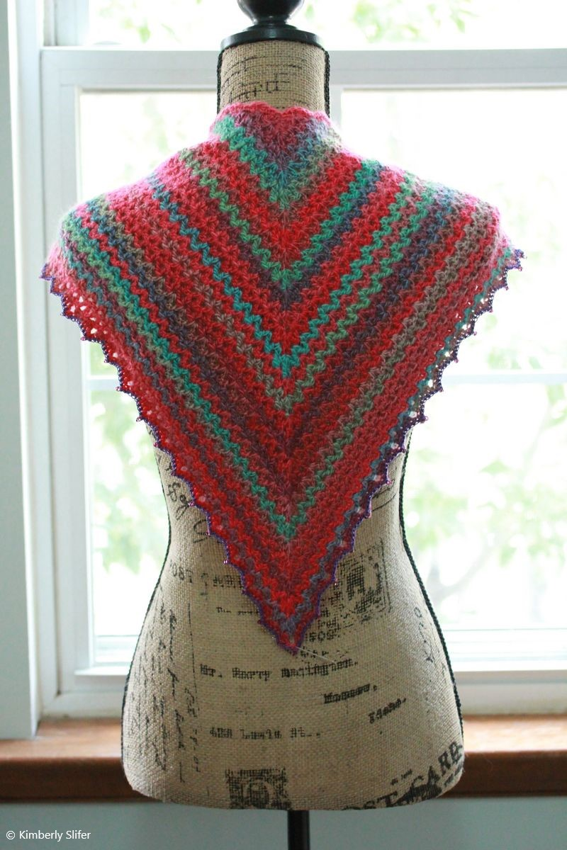 V-stitch Scarf/Shawlette