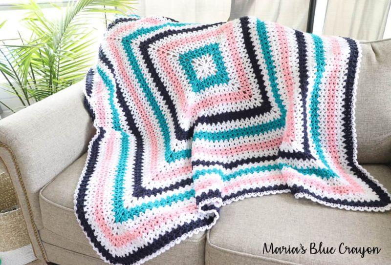 V-Stitch Granny Blanket
