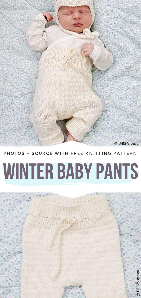 Winter Baby Pants Free Knitting Pattern