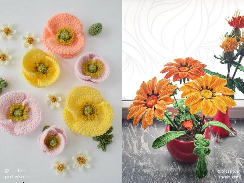 Stunning Crochet Flowers - Ideas and Free Patterns