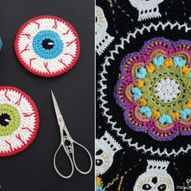 Halloween Table Decor Elements with Free Crochet Patterns