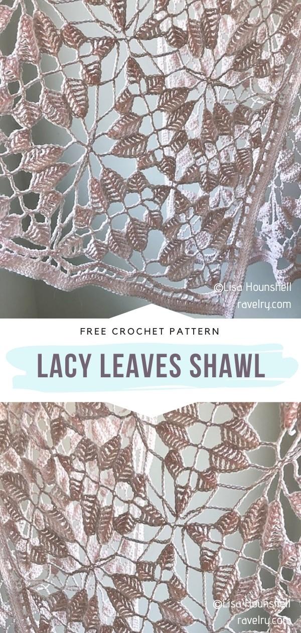 Crochet Leaves Shawl