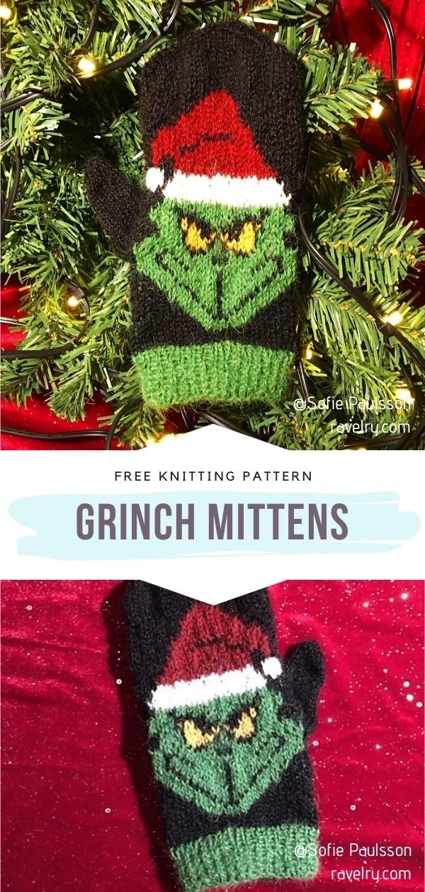 Grinch Mittens