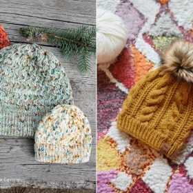 Textured Beanies for Cold Days with Free Knitting Patterns