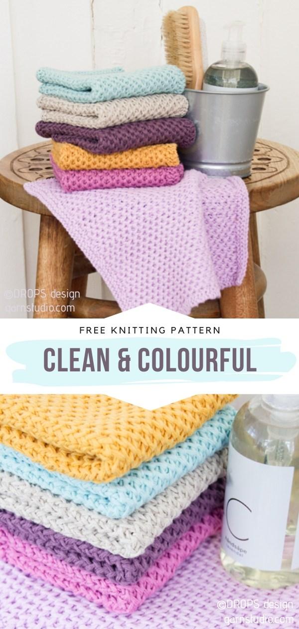 Pastel Knit Dishcloths