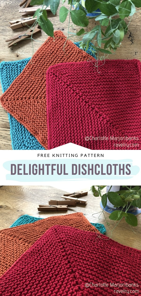 Colorful Knit Dishcloths