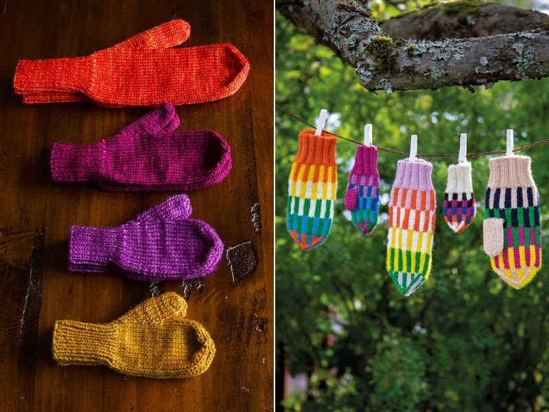 Easy Family Mittens Free Knitting Pattern