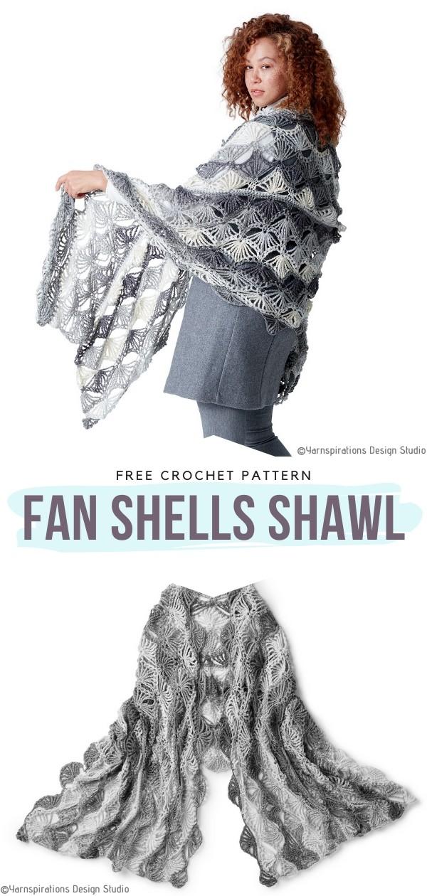 Fan Shells Crochet Shawl