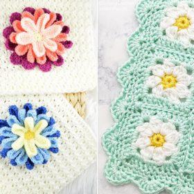 Gorgeous Flower Baby Blankets Free Crochet Patterns