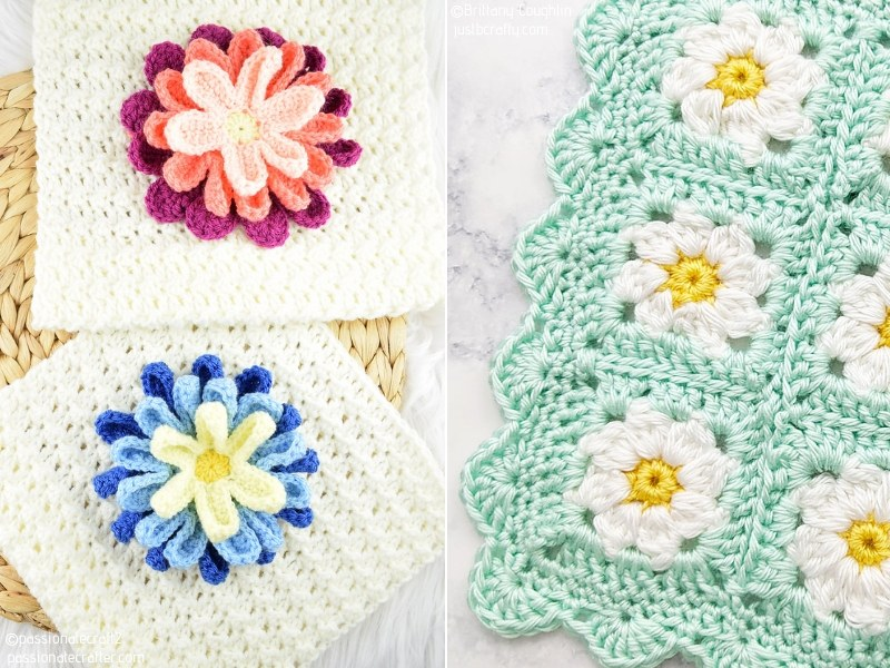 Gorgeous Flower Baby Blankets