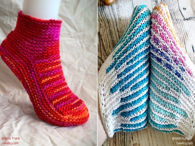 Easy Knitted Slippers Free Patterns