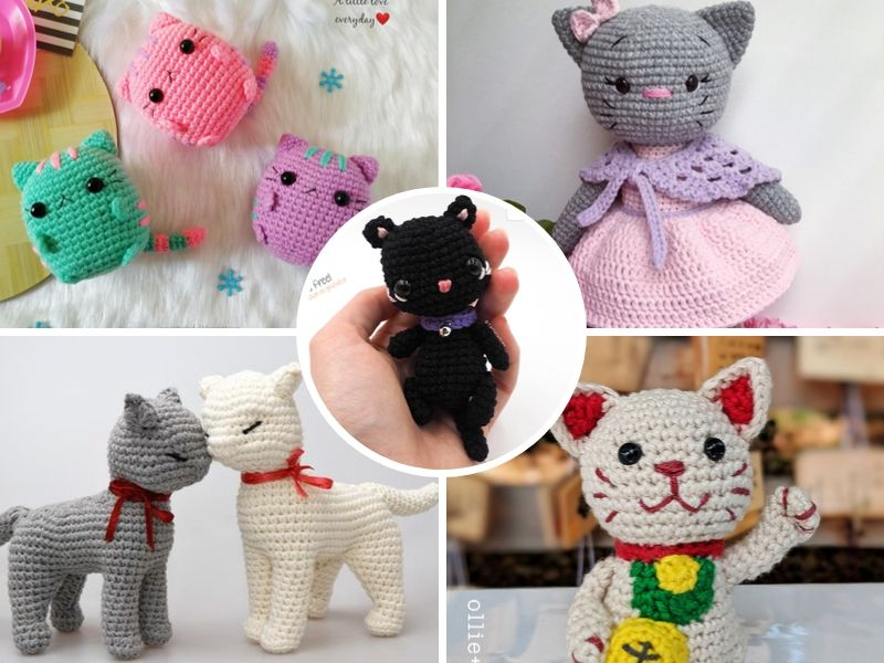 Free Patterns Adorable Crochet Kitties