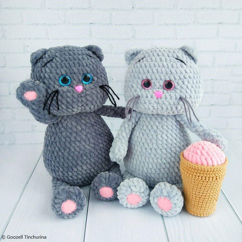 Crochet Pattern Amigurumi Fluffy Cat