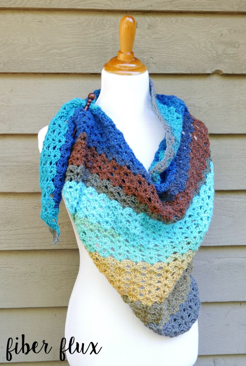 Free Crochet Pattern Autumn Skies Shawl