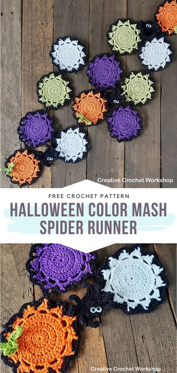 Halloween Crochet Runner