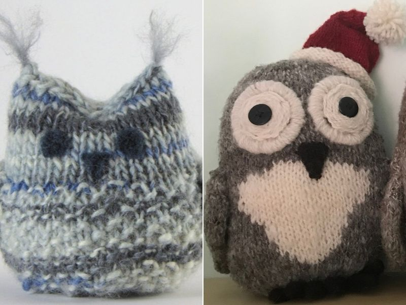 Free Patterns Charming Knitted Owls