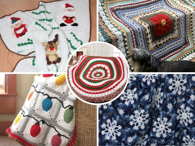 Free Crochet Patterns Christmas Blankets Ideas